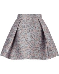 Mary Katrantzou Jq Calculon Skirt Cookie Sand - Lyst