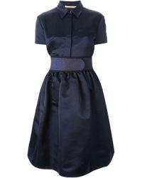 Christopher Kane Belted Blouse Dress - Lyst