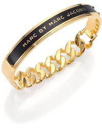 Marc By Marc Jacobs Id Katie Bangle Bracelet/Black - Lyst