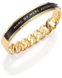 Marc By Marc Jacobs Id Katie Bangle Bracelet/Black - Lyst