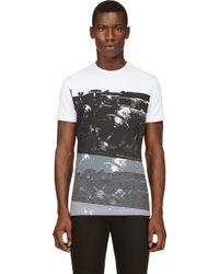 Costume National White and Black Camera Print T_shirt - Lyst