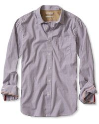 Banana Republic Heritage Striped Leaf-Print Shirt - Lyst