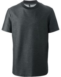 Neil Barrett Black Denim-Effect T-Shirt - Lyst