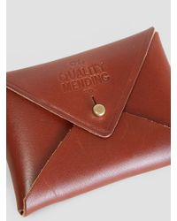 The Quality Mending Co. - Envelope Wallet Brown - Lyst