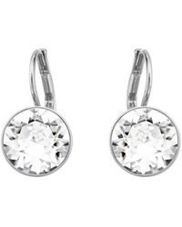 Swarovski Bella Silvertone Crystal Mini Drop Earrings - Lyst