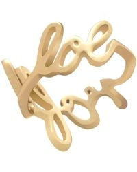House of Holland - Gold Plated Scribble Ring - Lyst