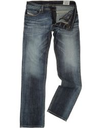 Diesel Safado 885k Straight Leg Dark Grey Wash Jean - Lyst