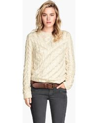H&M Cable-knit Jumper - Lyst
