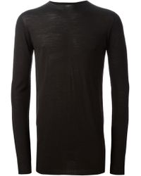 Rick Owens Crew Neck Sweater - Lyst