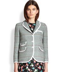 Thom Browne Trimmed Tweed Jacket - Lyst
