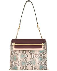 Chloé - Clare Python Shoulder Bag - Lyst