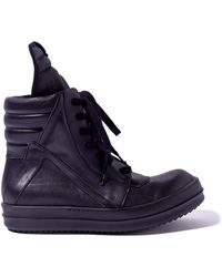 Rick Owens Mens Fully Black Geobaskets - Lyst