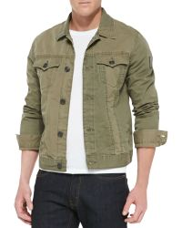 True Religion Jimmy Military Jacket Olive - Lyst