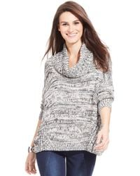 DKNY Marled-Knit Cowl-Neck Sweater - Lyst
