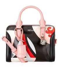Alexander McQueen Mini Kansai Circles Padlock Zip-Around Bag pink - Lyst
