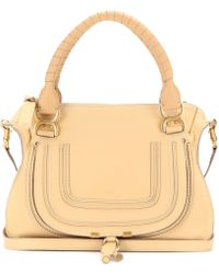 chloe marcie medium saddle bag - abstract white