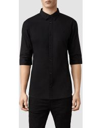 AllSaints Redondo Half Sleeved Shirt - Lyst