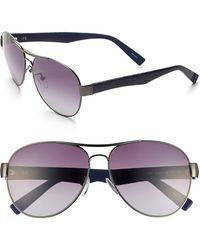 Furla Women'S 60Mm Aviator Sunglasses - Gunmetal/ Blue/ Gradient - Lyst