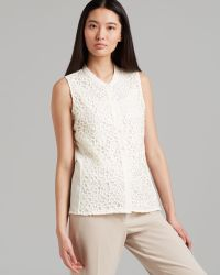 CALVIN KLEIN 205W39NYC - Top Sleeveless Geo Lace - Lyst
