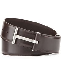 Tom Ford Mens Leather T-buckle Belt - Lyst