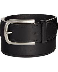 Tommy Hilfiger Bronze Grommet Black Belt - Lyst
