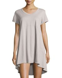 Jethro - Short-sleeve High-low Trapeze Dress - Lyst