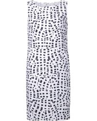 Oscar de la Renta Print Shift Dress - Lyst
