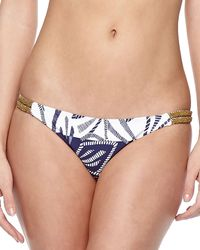 Vix Una Printed Embellished Swim Bottom - Lyst