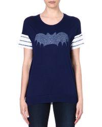 Zoe Karssen Bat Tshirt Blue - Lyst