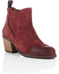 BOSS Orange - Suede Ankle Boots 'Ivette' - Lyst