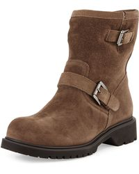 La Canadienne   Hayes Fur-lined Buckled Mid-calf Boot   Lyst