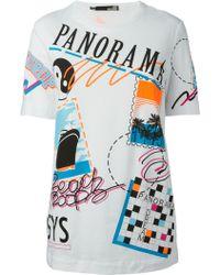 Love Moschino Stamp Print T-Shirt - Lyst