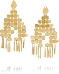 Aurelie Bidermann - Marella Gold-plated Earrings - Lyst