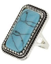 TOPSHOP - Semi Precious Rectangle Ring - Lyst
