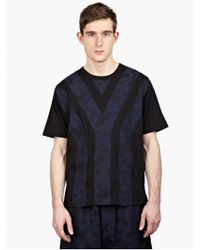 Y-3 Men'S Black Jacquard T-Shirt blue - Lyst