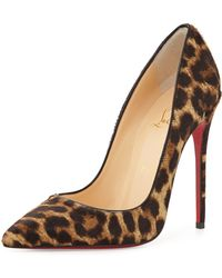 Christian Louboutin So Kate Calf Hair Red Sole Pump - Lyst