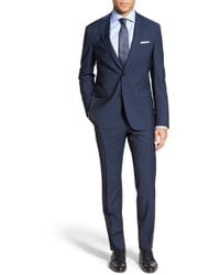 BOSS | 'reyno/wave' Trim Fit Solid Wool & Mohair Suit | Lyst