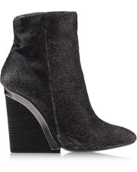 Vic Matie' Gray Ankle Boots - Lyst