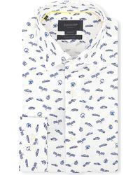 Duchamp Race-Car Print Cotton Shirt - For Men - Lyst