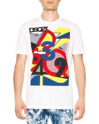 DSquared2 Pop Art-Inspired Graphic Tee - Lyst