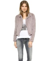 June Fur Jacket - Dove - Lyst