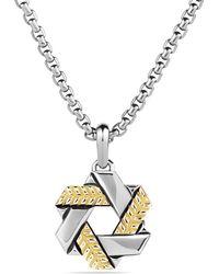 David Yurman Modern Chevron Star Of David with Gold - Lyst
