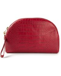 Erika Cavallini Semi Couture - Crocodile Effect Make Up Bag - Lyst