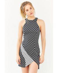 Stylestalker Chronicle Grid Bodycon Dress black - Lyst