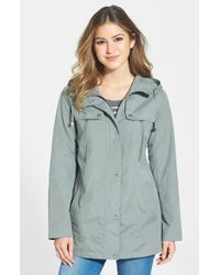 Bernardo Hooded Crepe Jacket - Lyst
