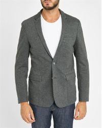Calvin Klein | Mottled-grey Stretch Cotton-jersey Jacket | Lyst