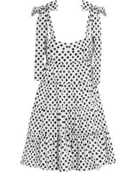 Dolce & Gabbana Polka-Dot Cotton-Poplin Mini Dress - Lyst