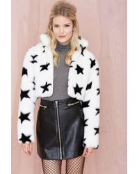 Nasty Gal Starring Me Faux Fur Jacket - Lyst