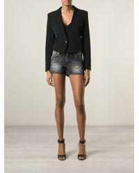 Versus - Distressed Denim Shorts - Lyst