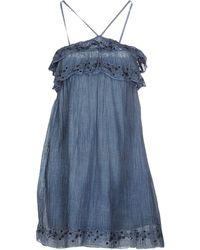 Miss Sixty - Short Dress - Lyst